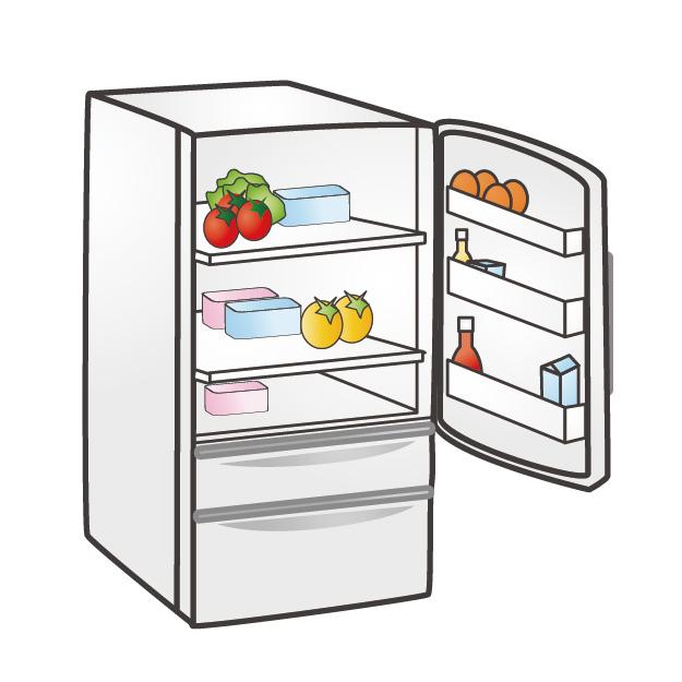 冷蔵庫の扉を開閉