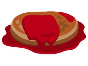 熱々のハンバーグ