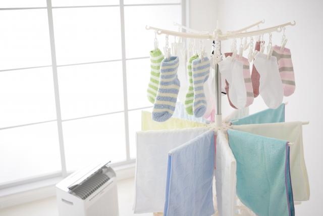 除湿機で衣類を乾燥